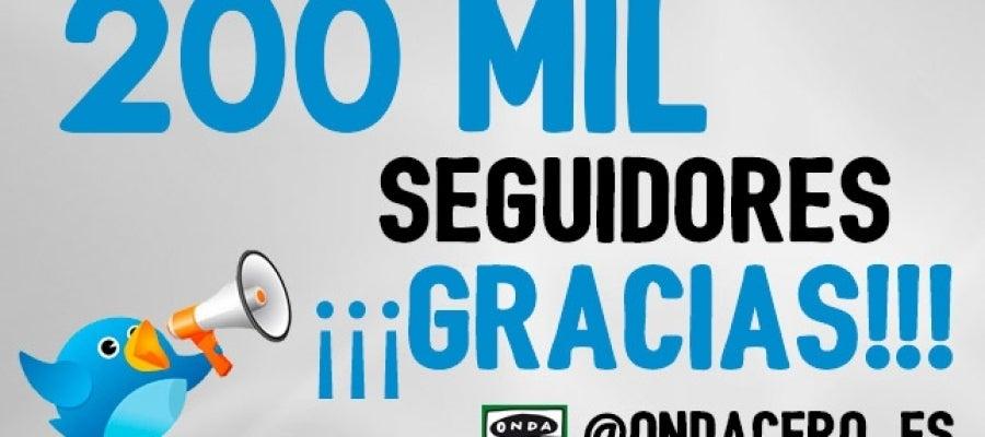 Onda Cero alcanza los 200.000 seguidores en Twitter
