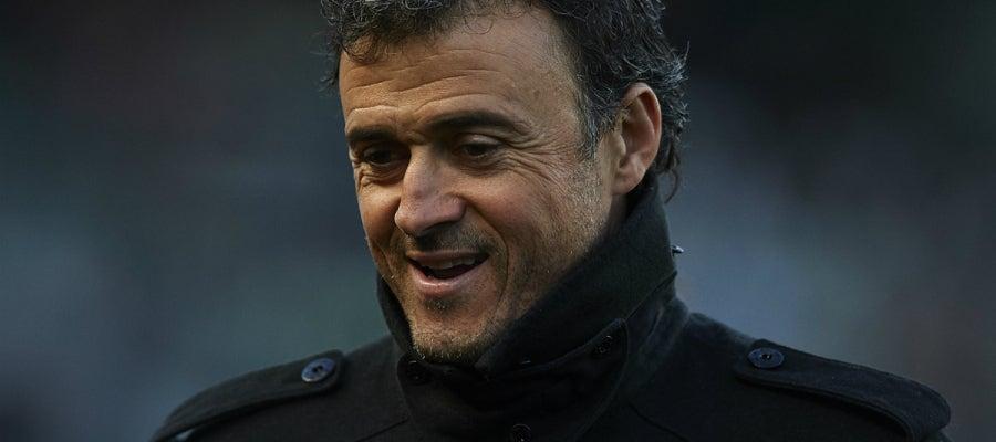 Luis Enrique sonríe