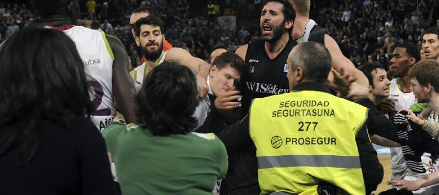 Trifulca entre Bilbao Basket y Laboral Kutxa