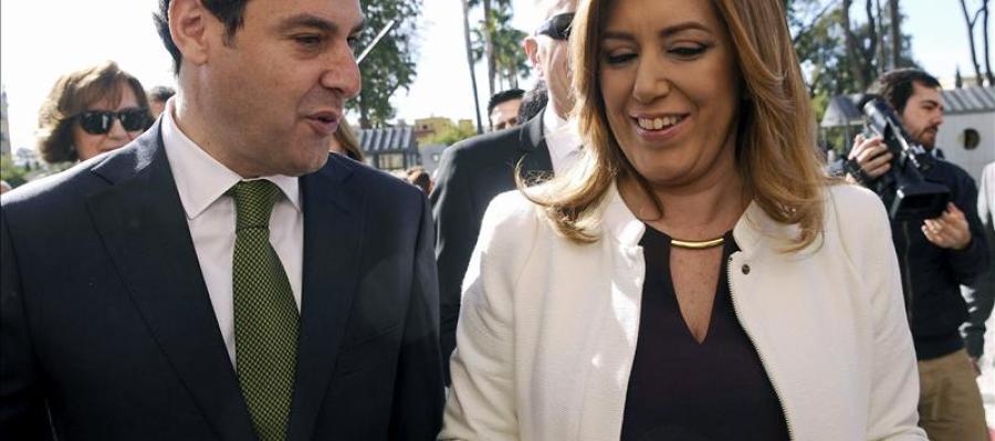 Juanma Moreno y Susana Díaz