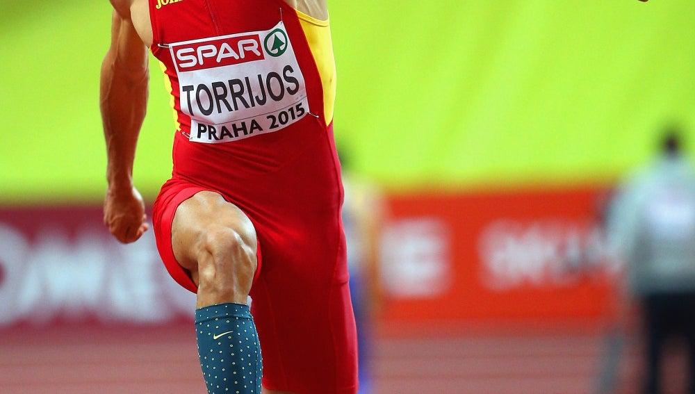Pablo Torrijos participando en los Europeos en pista cubierta de Praga