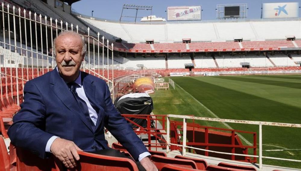 Vicente Del Bosque en el Sánchez Pizjuán