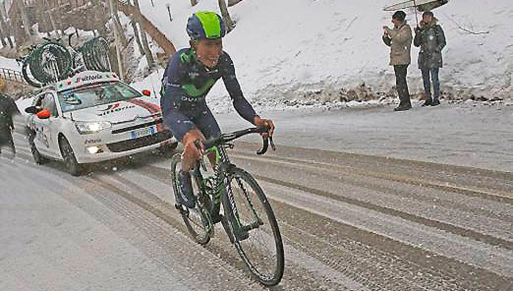 Nairo Quintana, en la subida al Terminillo