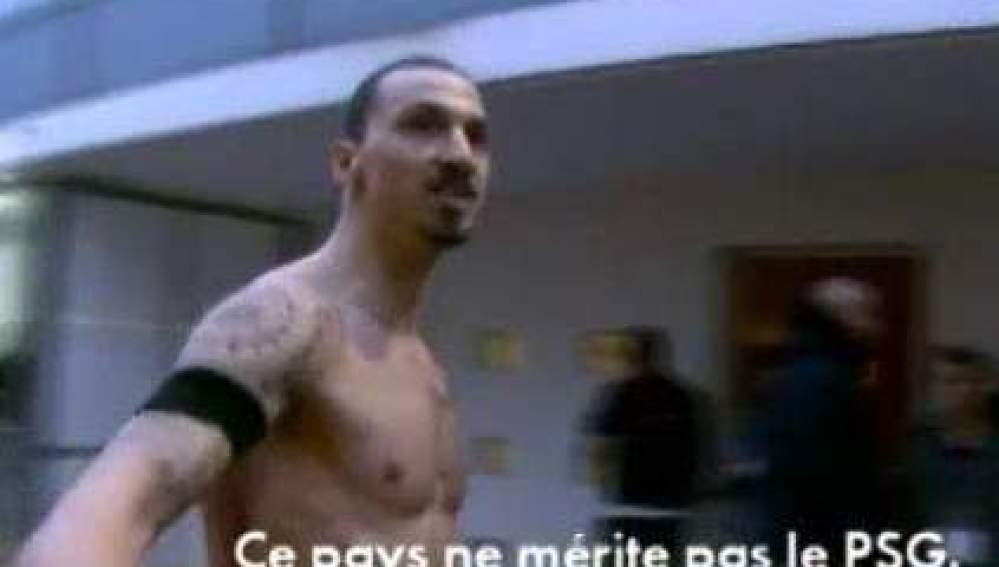 Zlatan Ibrahimovic, en el momento de sus desafortunadas declaraciones