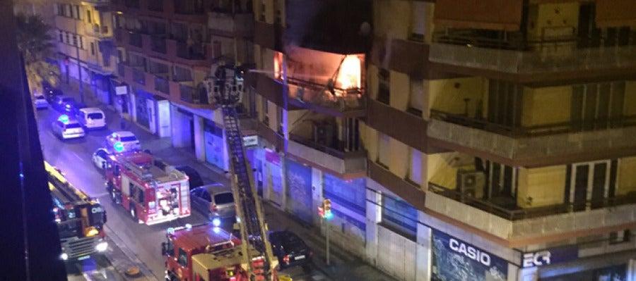 Finca afectada por el incendio en General Riera