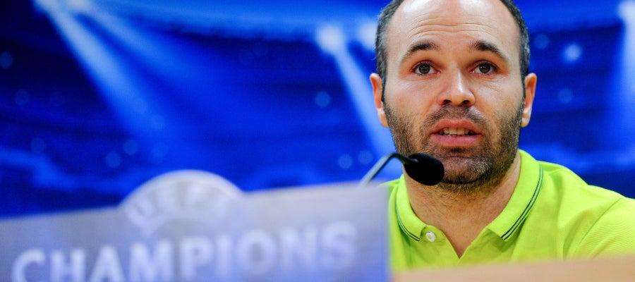 Andrés Iniesta en rueda de prensa