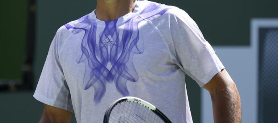 Fernando Verdasco se lamenta de un punto ante Nishikori