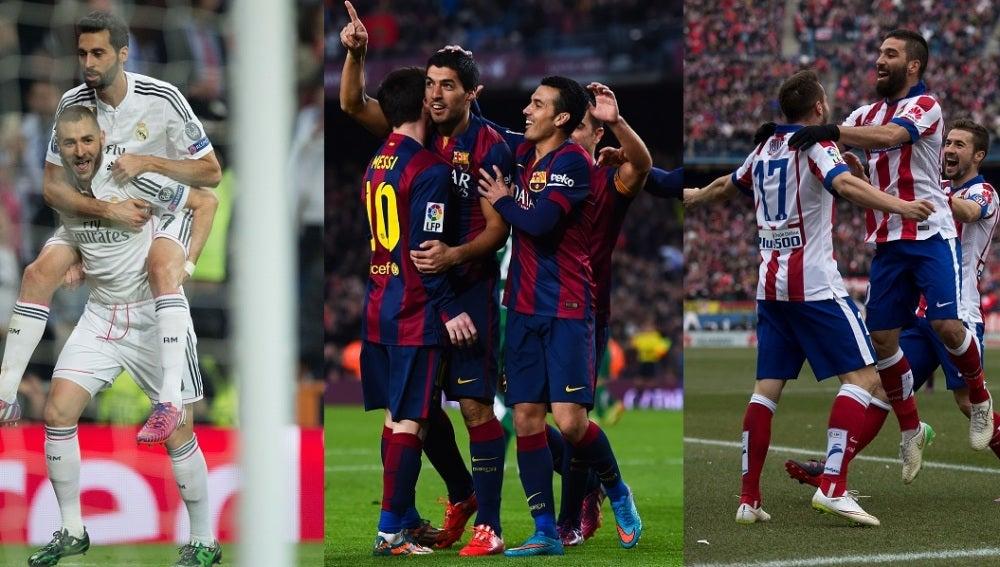 Real Madrid, Barcelona y Atlético de Madrid, adelante en Champions