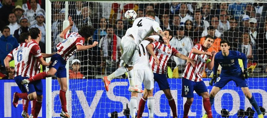 El gol de Ramos ante el Atlético en Lisboa