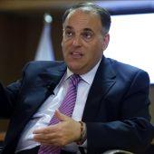 Javier Tebas durante la Asamblea Nacional en Barcelona