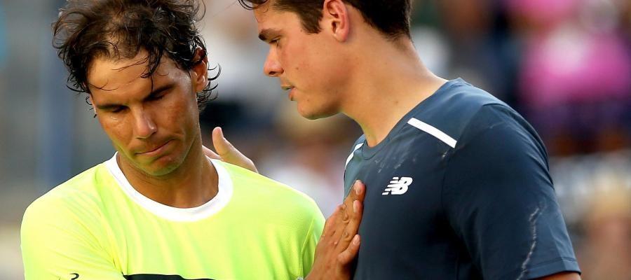 Rafa Nadal felicita a Milos Raonic