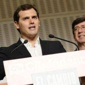 Albert Rivera, junto a Juan Marín