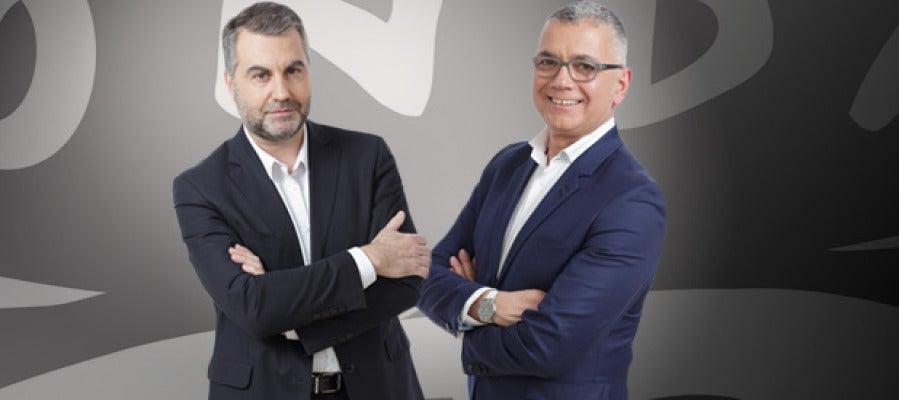 Carlos Alsina y Juan Ramón Lucas, presentadores de Más de uno