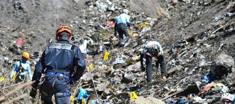 Tareas de búsqueda e identificación en los Alpes