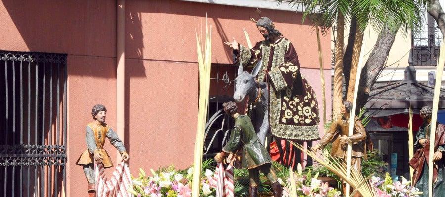 Tradicional procesión de Las Palmas, conocida como 'La Borriquilla'