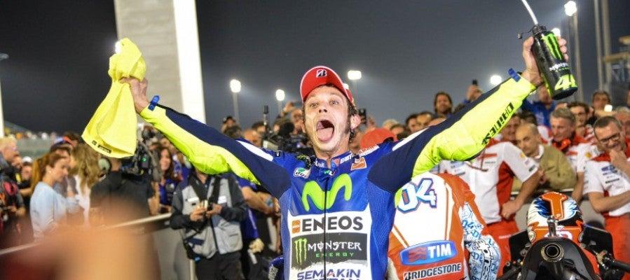 Rossi logra la victoria en Catar