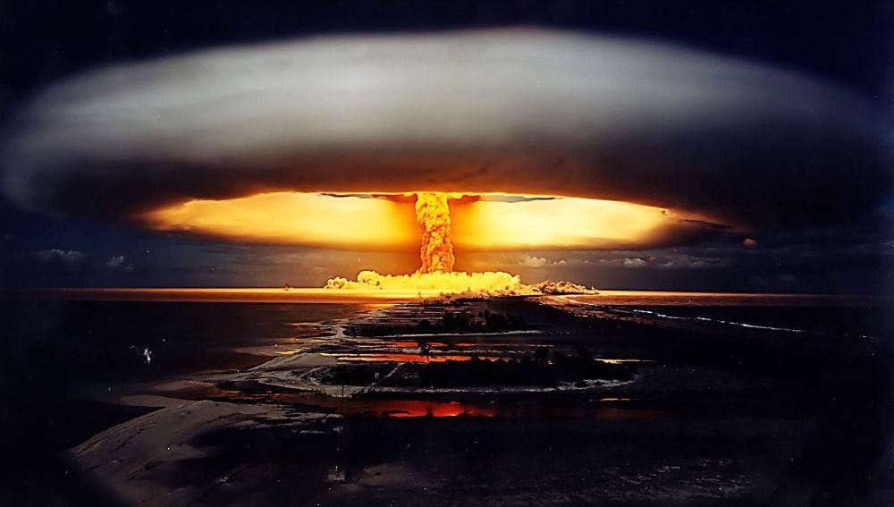 Explosión de una bomba nuclear