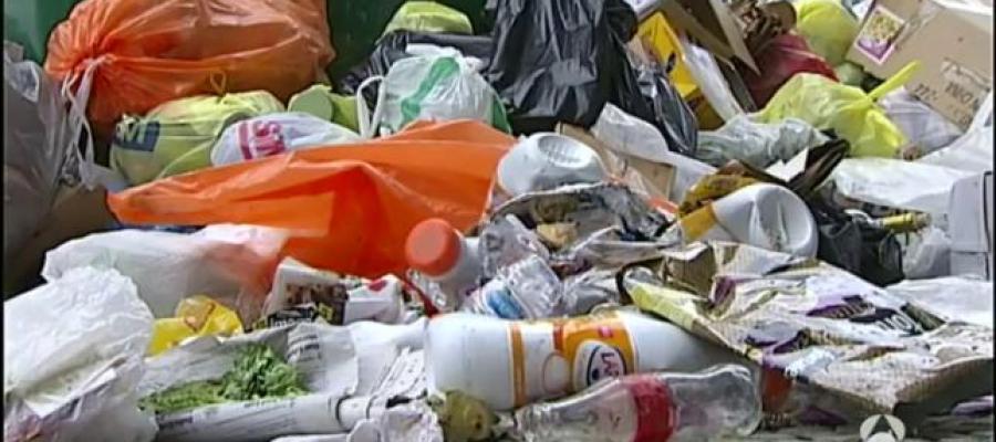 Huelga de basuras en Getxo