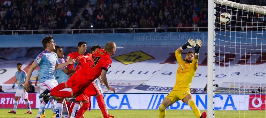 Mathieu marca un gol al Celta