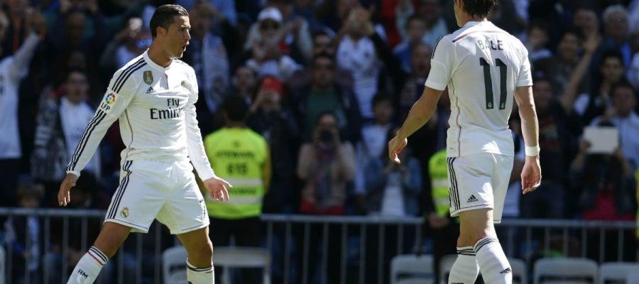 Cristiano celebra con su particular forma un gol
