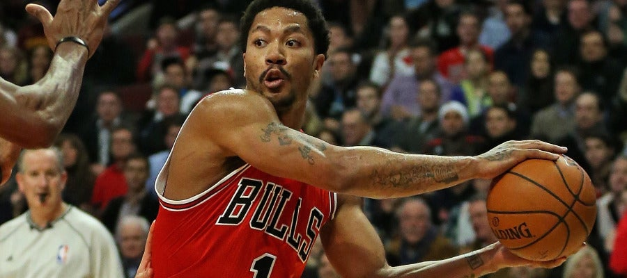 Derrick Rose con los Chicago Bulls