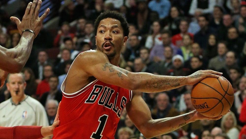 Derrick Rose con los Chicago Bulls
