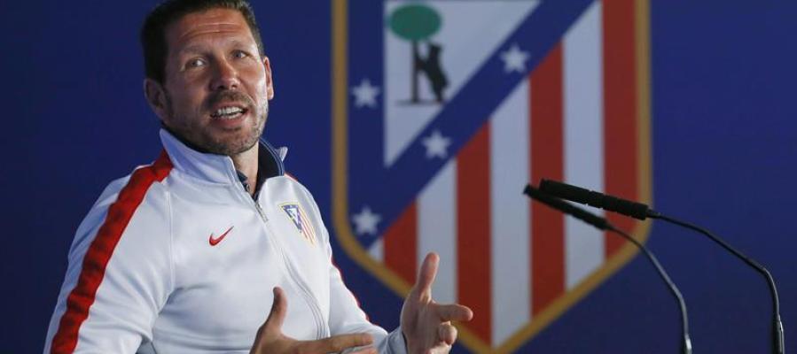 Simeone en rueda de prensa previa al derbi de Champions League