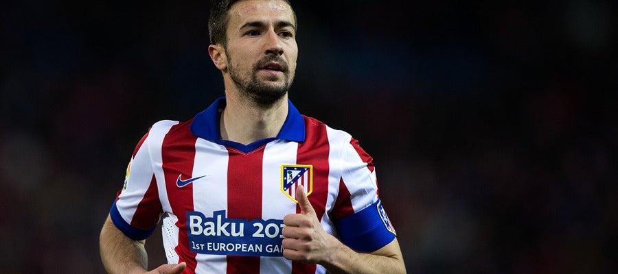 Gabi, en un partido del Atlético de Madrid