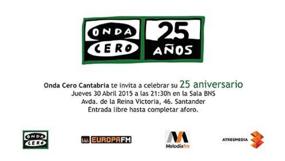 Onda Cero Cantabria celebra sus 25 años