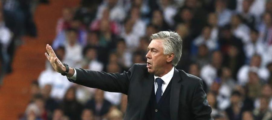 Ancelotti en su encuentro ante el Atlético