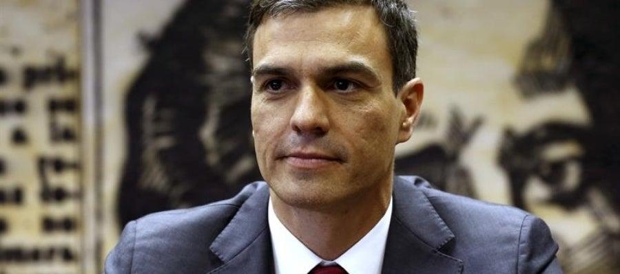 El líder del PSOE, Pedro Sánchez, durante la presentación de su propuesta para un nuevo Estatuto de los Trabajadores