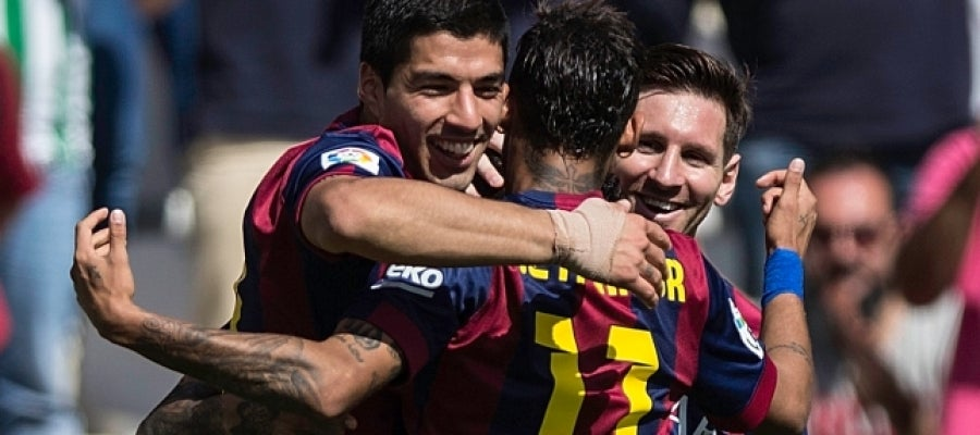 El tridente letal del Barcelona: Messi, Suárez y Neymar