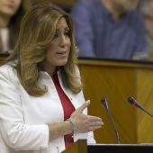 Susana Díaz en el Parlamento de Andalucía