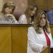 Susana Díaz en el debate de investidura