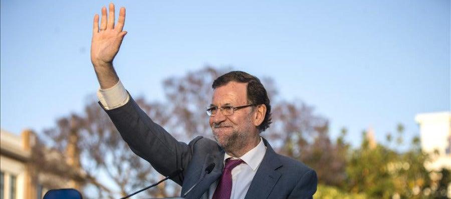 Rajoy en su intervención en un acto del PP en Málaga