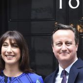David Cameron en el 10 de Downing Street
