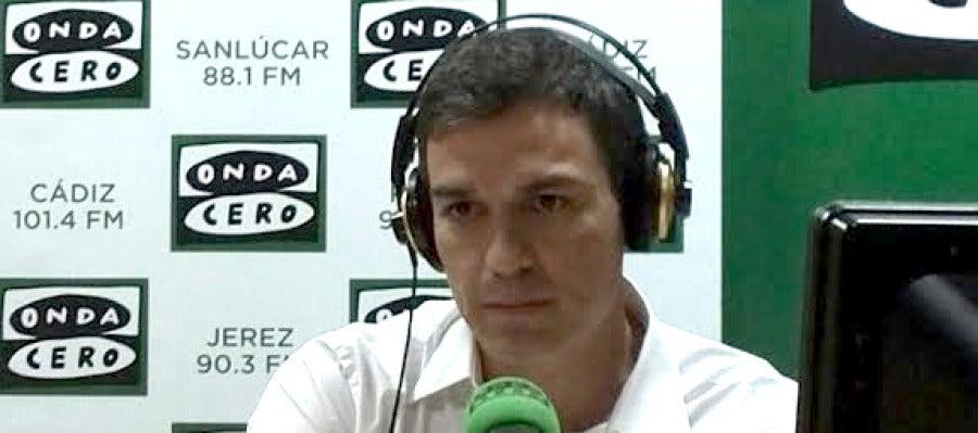 Pedro Sánchez, secretario general del PSOE en Onda Cero