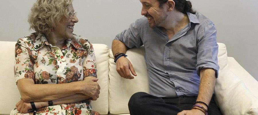 Manuela Carmena reunida con Pablo Iglsias