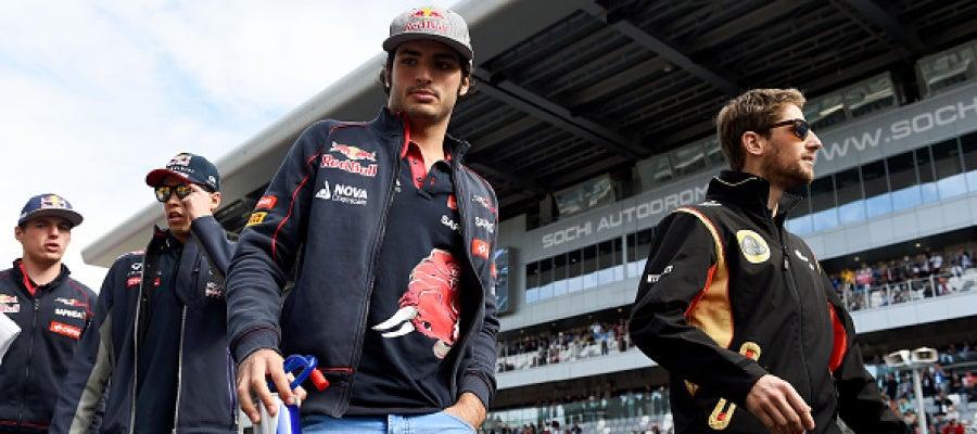 Carlos Sainz en el GP de Rusia
