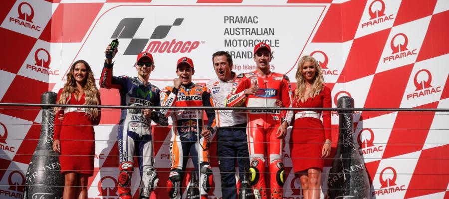 Podio de Moto GP