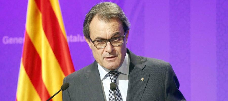 El presidente de la Generalitat en funciones, Artur Mas