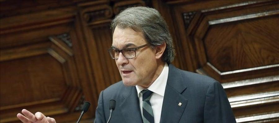 El candidato a la Presidencia de la Generalitat, Artur Mas