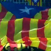 La estelada incluida en el vídeo promocional del Barça - Roma
