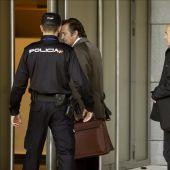 Josep Pujol, a su llegada a los juzgados.