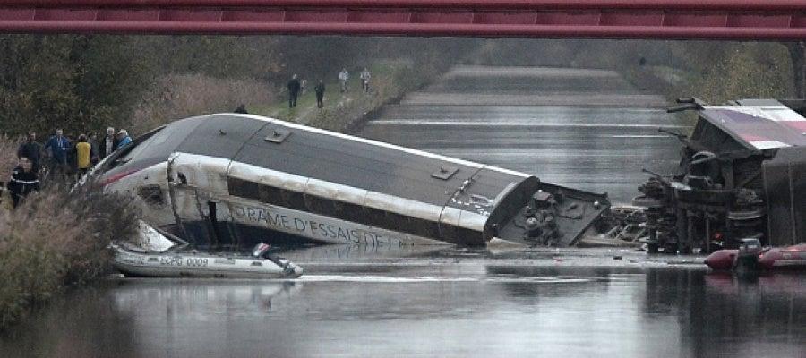 Descarrilamiento de un tren en Alsacia, Francia