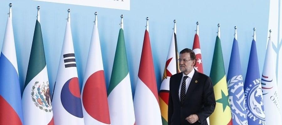 El presidente del Gobierno, Mariano Rajoy, en la Cumbre del G20 en Turquía