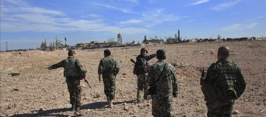 Miembros del Ejército sirio
