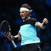 Rafa Nadal celebra un punto ante Wawrinka