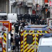 Imágenes del atrincheramiento en París.
