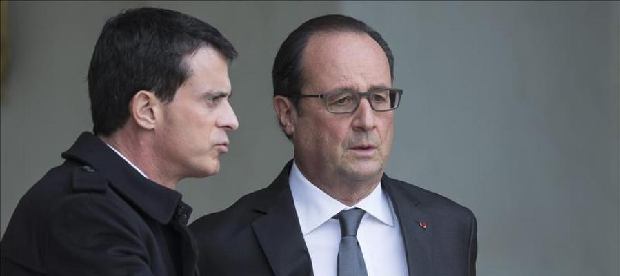 Manuel Valls con François Hollande.